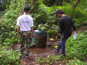 Sumber Air di Pos I Tambora