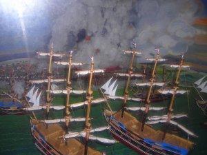 Diorama penyerbuan Belanda pada Keraton Kuto Gawang-Palembang