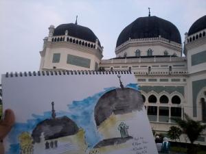 Sketching Masjid Al Mashun